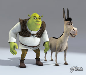 shrek donkey 3d model