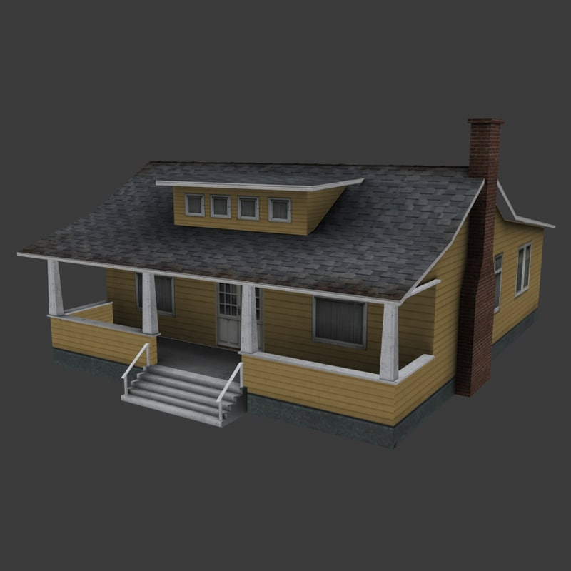 bungalow ready 3d max