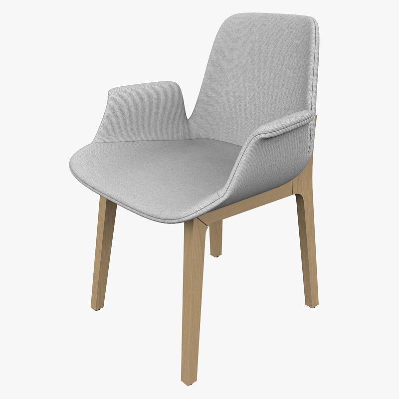 chair poliform ventura 3d model