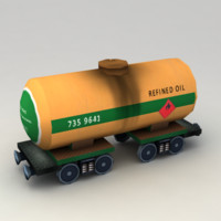 Lowpoly Wagon Cistern
