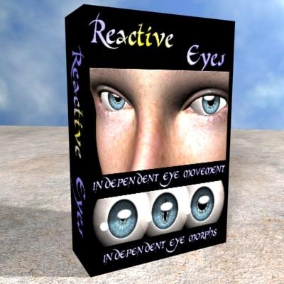 reactive eyes 3d max
