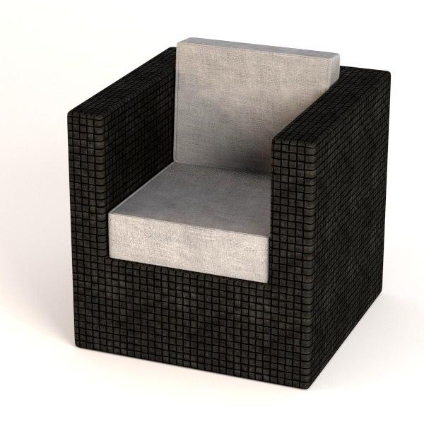garden furniture chair 3d 3ds
