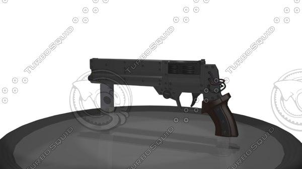 shape gun 3d model