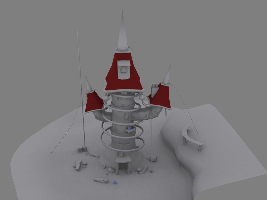 3d model scene tower environment