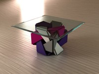 cube table hypercube 3d 3ds