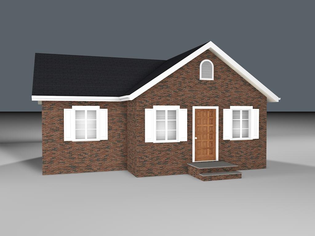 story brick house 3d 3ds