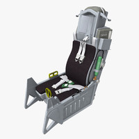 3d model advanced concept ejection seat