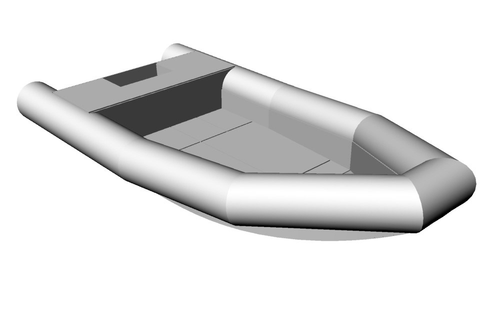 3d model small boat