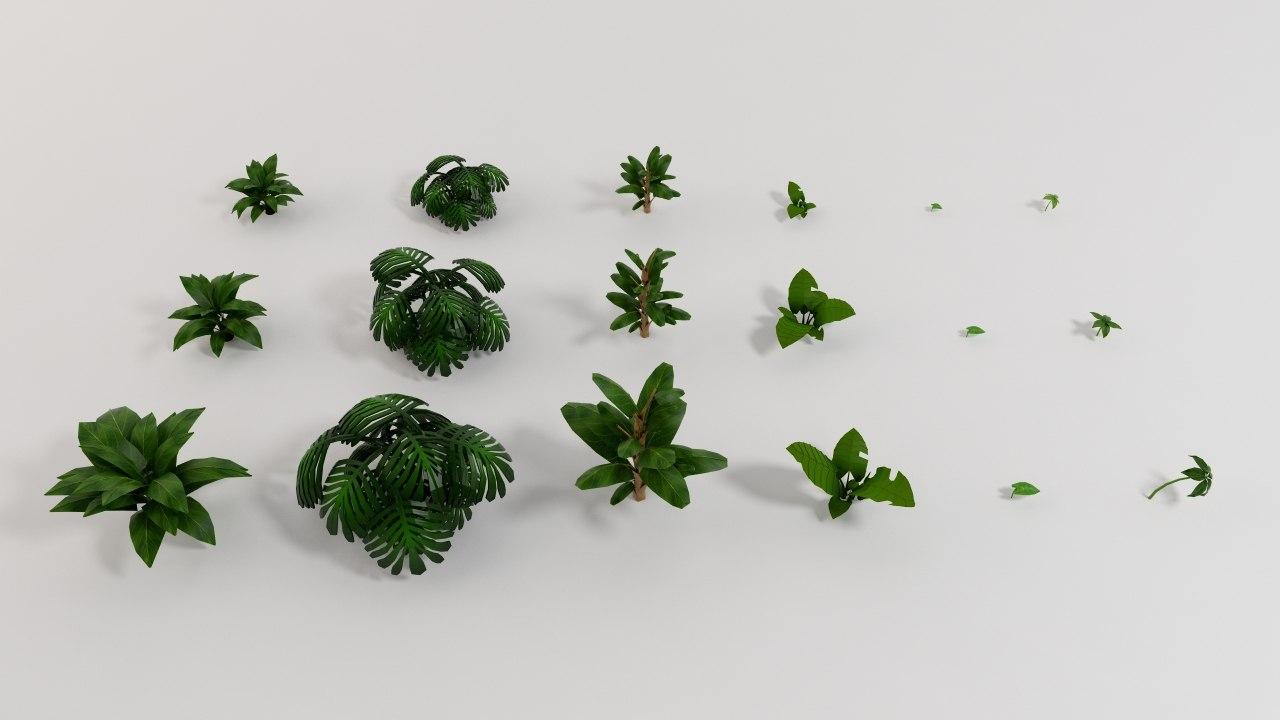 jungle plants 3ds
