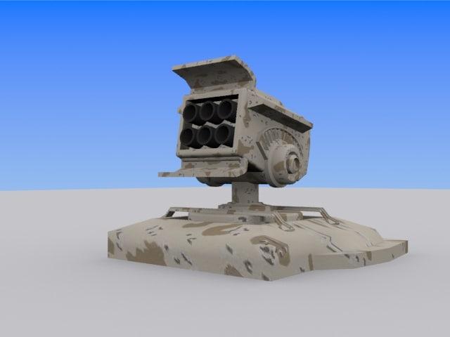 3d model of missle launcher