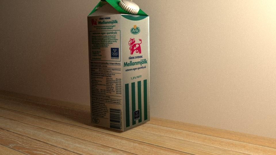 mjölk arla paket 3d 3ds