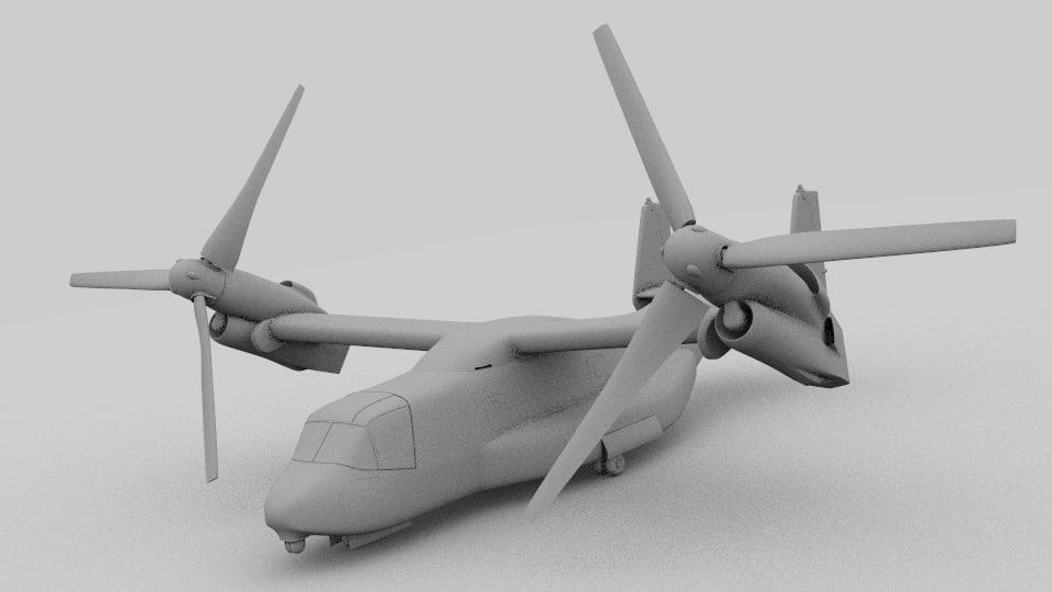 3d 3ds bell v-22 osprey