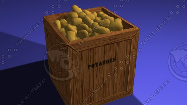 potato box 3d max
