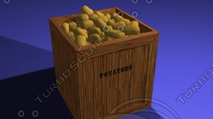 potato box 3d max