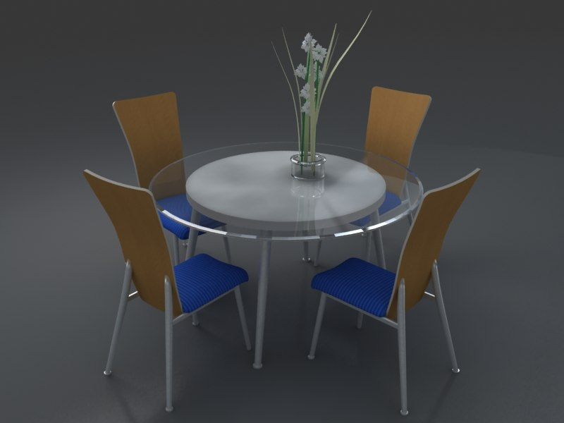3d chair kitchen model