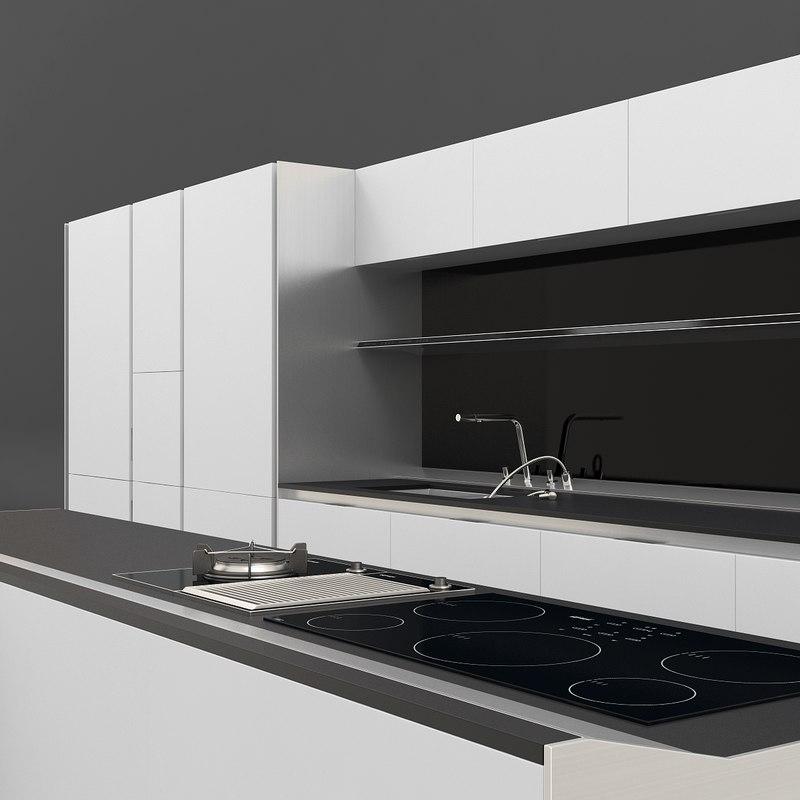 kitchen siematic s1 3d max