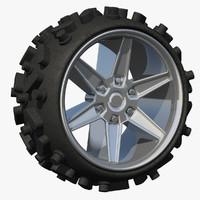 wheel sport rim terrain 3d ma