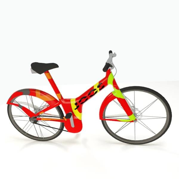 modern electric bike obj
