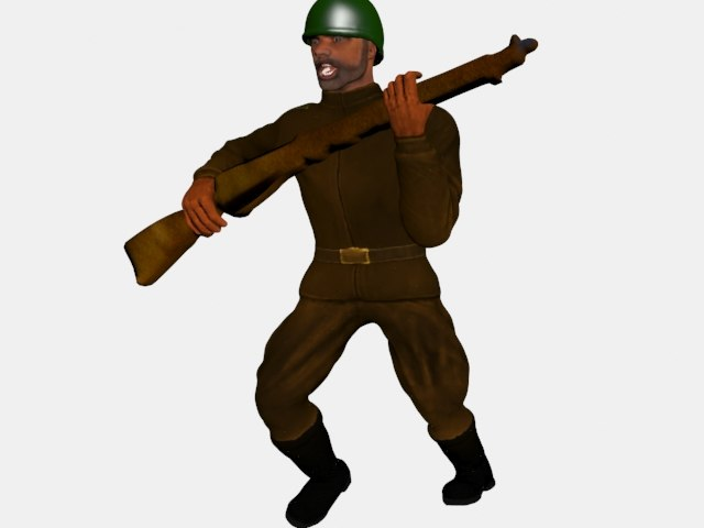 3ds max soldier run