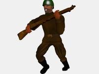 3ds max soldier run