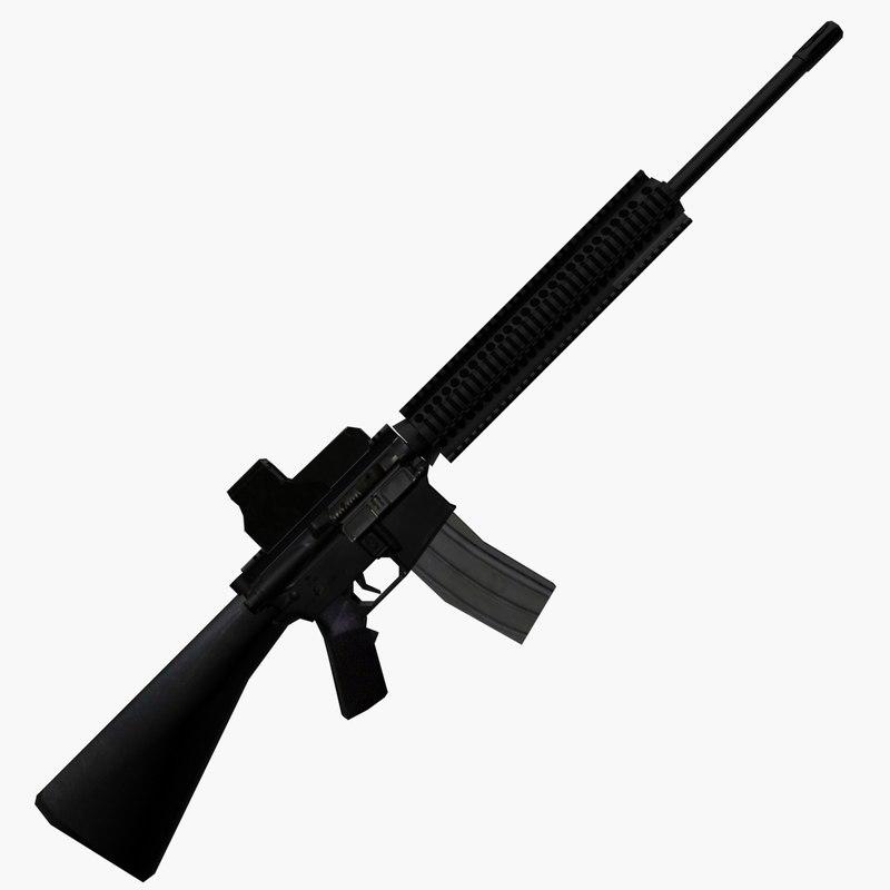 3d Model M16a4 Assault Rifle