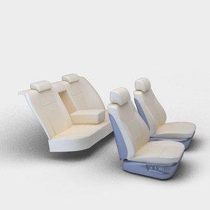 seats sedan 3ds