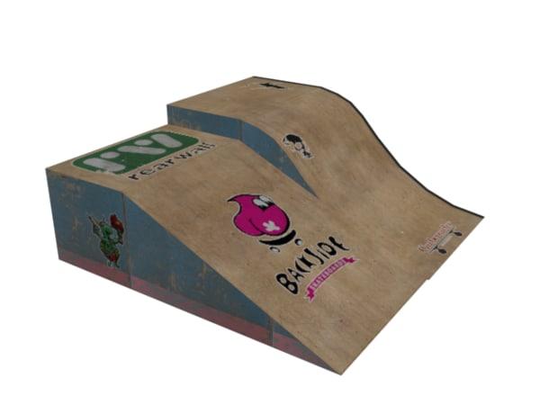 3d model skate ramp