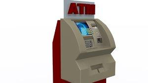 3d model atm machine 1