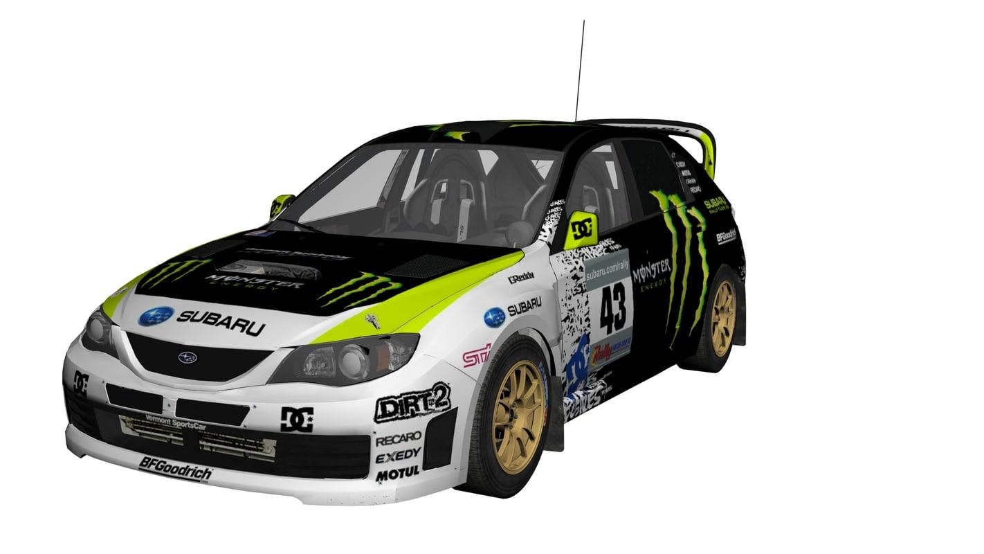 3ds max subaru car rally