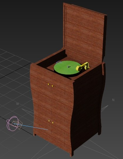 victrola record player 3d model