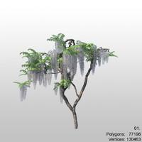 3d tree flower