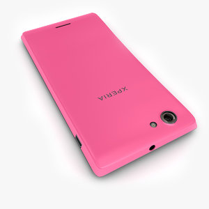 3d model of sony xperia j pink