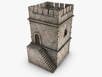 old tower 3d 3ds