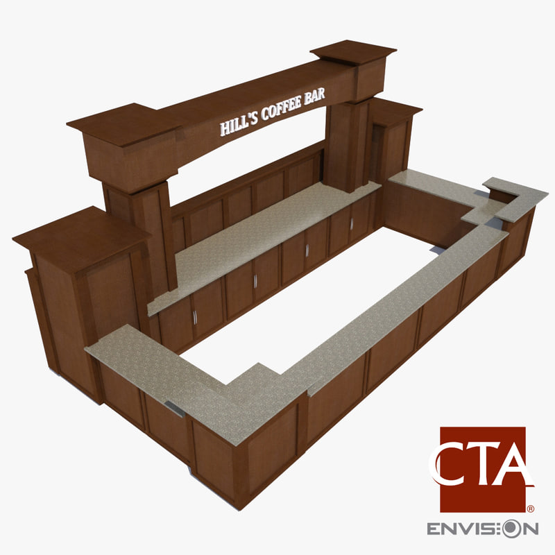 3ds max coffee bar counter