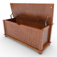 storage bench cushion 3d model