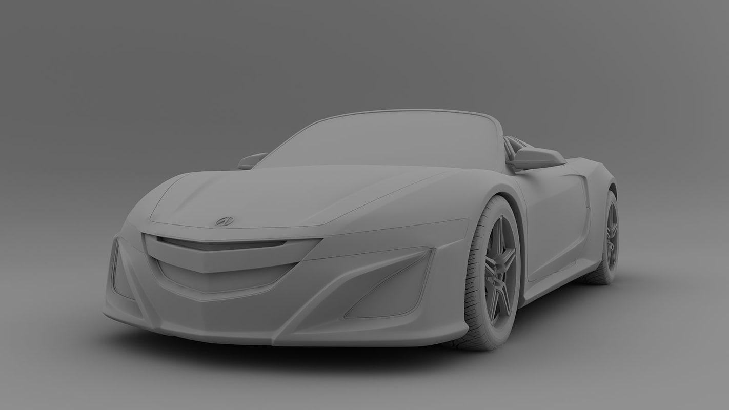 nsx roadster acura 3d model
