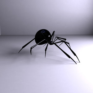 3d model spider video insect