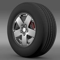 3d jeep wrangle wheel