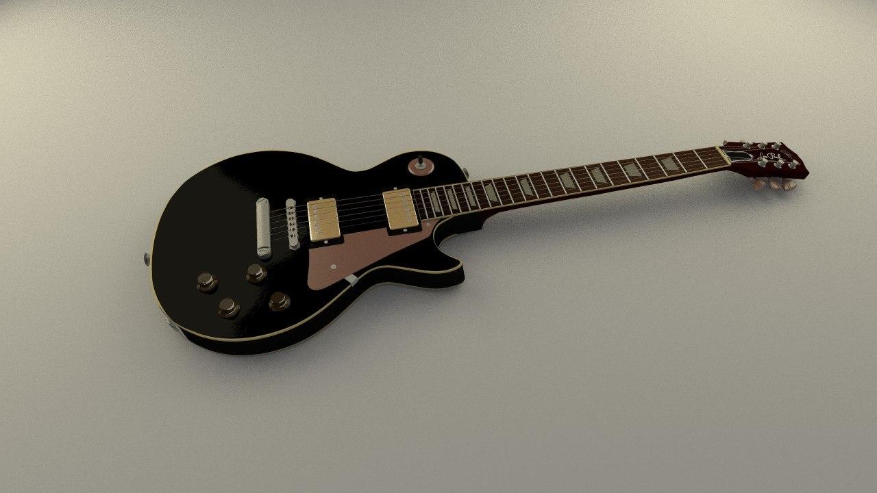 guitar 3d blend