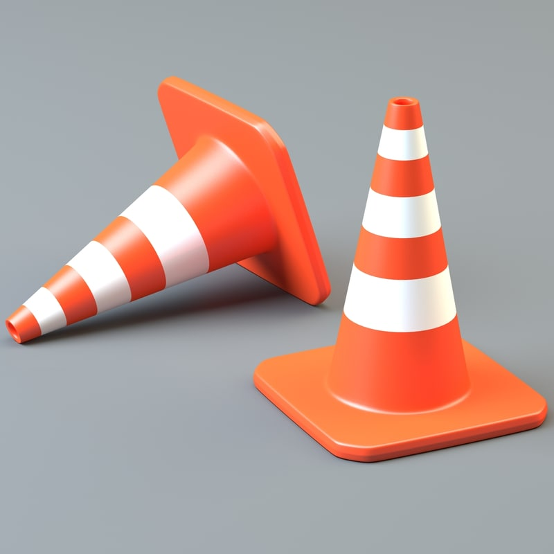 3dsmax traffic cone