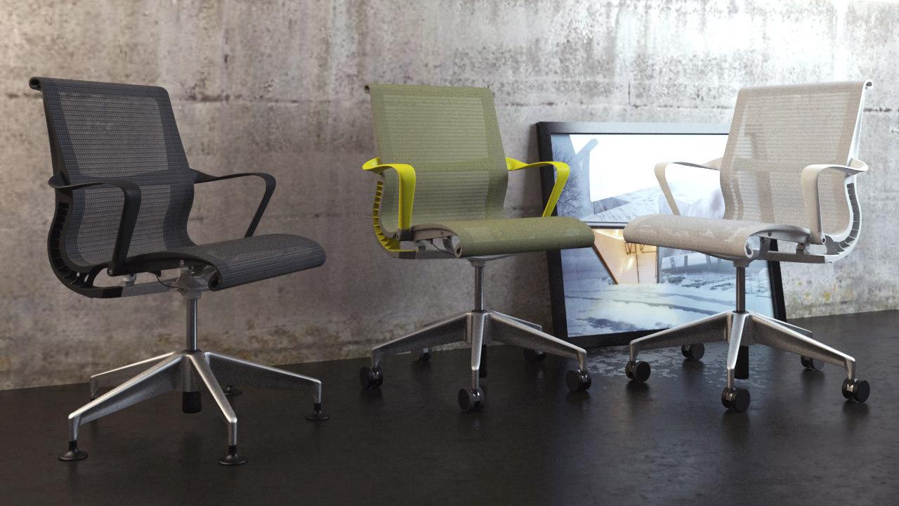 3d chair set setu scene