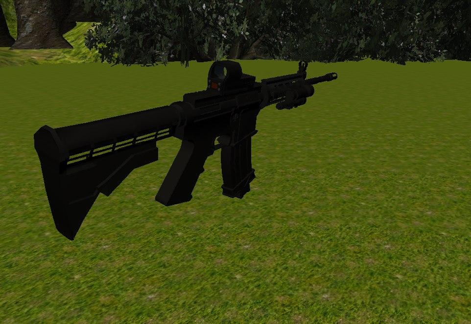 weapon m4a1 eotech model