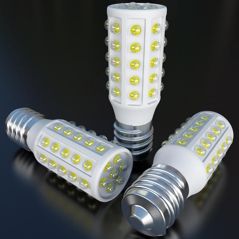 medium led light bulb 3d model