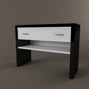 free console 3d model