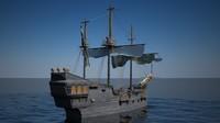 old ship 3d c4d