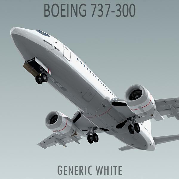 3d model boeing 737-300