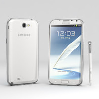 3d model samsung galaxy note 2