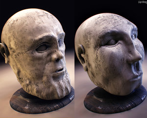 max head stone bust