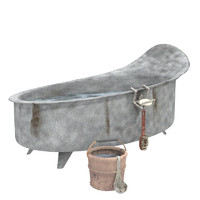 bathtub bucketful 3d model