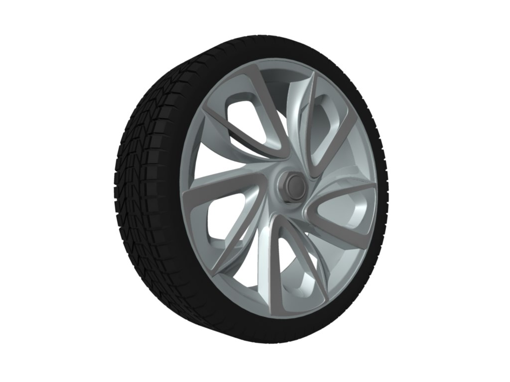 3d model citroen gt wheel tyre